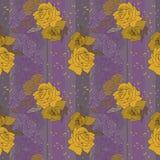 Rosas amarillas en fondo profundo Imagen de archivo