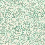 Rosas amarillas y verdes de la fiesta del té del jardín stock de ilustración