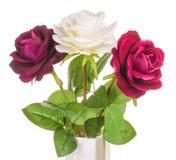Rosas artificiais isoladas Imagem de Stock Royalty Free