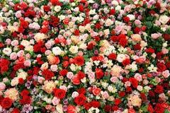 Rosas artificiales Imagen de archivo libre de regalías