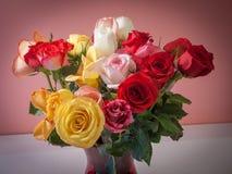 Rosas Assorted imagens de stock royalty free