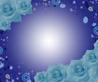 rosas azuis ilustração stock