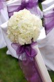 Rosas blancas wedding el ramo Foto de archivo libre de regalías