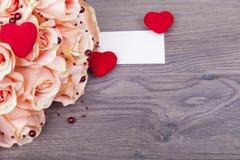 Rosas bonitas com pérolas Imagem de Stock Royalty Free