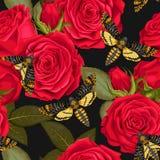 Rosas bonitas sem emenda Foto de Stock Royalty Free