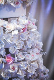 Rosas brancas artificiais Fotos de Stock Royalty Free