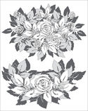 Rosas cinzentas Ilustração Stock