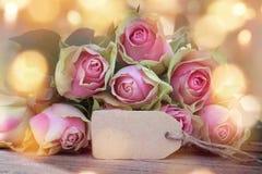 Rosas com bokeh para o dia de mães Fotos de Stock