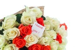 Rosas com gratitude Foto de Stock