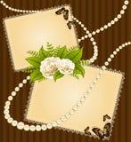 Rosas con los ornamentos del cordón Fotografía de archivo libre de regalías