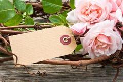 Rosas cor-de-rosa fotografia de stock