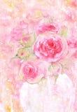 rosas cor-de-rosa da aquarela Foto de Stock Royalty Free