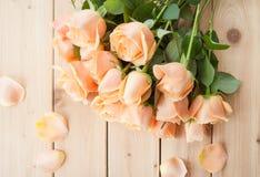 Rosas cor-de-rosa frescas Fotografia de Stock