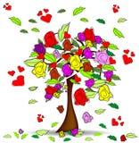 Rosas da árvore Imagem de Stock