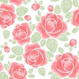 Rosas da aquarela Teste padrão sem emenda floral 3 Imagem de Stock