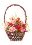 Rosas da cesta Foto de Stock Royalty Free