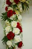 Rosas da decoração da flor Fotografia de Stock Royalty Free