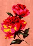 Rosas da textura em um fundo cor-de-rosa Foto de Stock