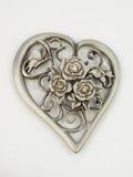 Rosas dadas forma coração do metal Fotografia de Stock
