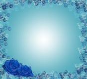Rosas de canto florais do azul do projeto ilustração do vetor