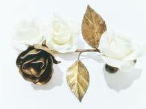 Rosas de cobre amarillo Imagenes de archivo