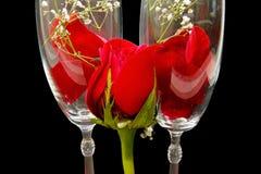 Rosas de cristal Foto de archivo libre de regalías