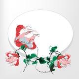 Rosas de encontro a um frame Foto de Stock Royalty Free