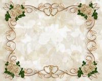 Rosas de la antigüedad de la invitación de la boda Imágenes de archivo libres de regalías