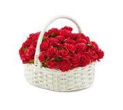 Rosas de la cesta Imágenes de archivo libres de regalías