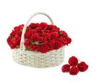 Rosas de la cesta aisladas Imagenes de archivo