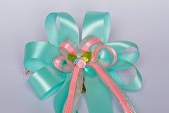 Rosas de la cinta de la tela. Imagen de archivo libre de regalías