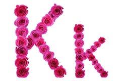 Rosas de la letra k Fotos de archivo libres de regalías
