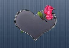Rosas de la tarjeta del día de San Valentín Imágenes de archivo libres de regalías