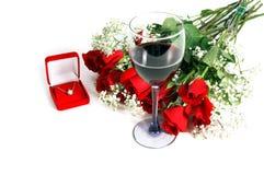 Rosas de la tarjeta del día de San Valentín Fotos de archivo libres de regalías