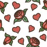 Rosas de la textura Stock de ilustración