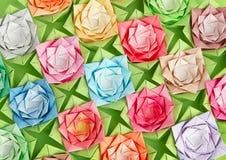 Rosas de Origami Imagen de archivo