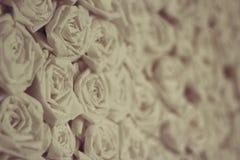 Rosas de papel del vintage fotos de archivo libres de regalías