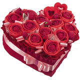 Rosas de papel do coração Fotos de Stock Royalty Free