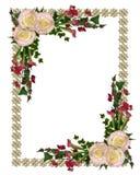 Rosas del color de rosa de la invitación de la boda Imágenes de archivo libres de regalías