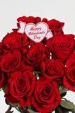 Rosas del día de tarjetas del día de San Valentín Imagenes de archivo