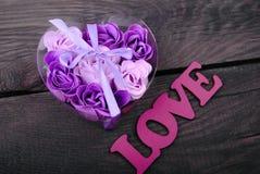 Rosas del jabón natural Foto de archivo libre de regalías