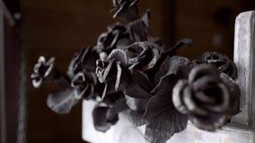 Rosas del metal en feria almacen de video