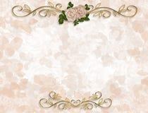Rosas del Victorian Wedding la invitación stock de ilustración