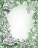 Rosas do branco da beira do casamento ilustração royalty free