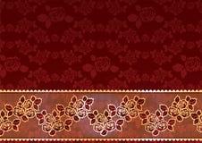 Rosas do laço do ouro Fotografia de Stock Royalty Free