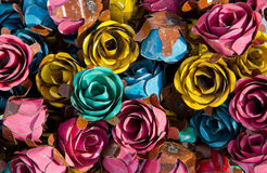 Rosas do metal Fotos de Stock Royalty Free