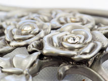 Rosas do metal Imagem de Stock Royalty Free