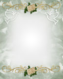Rosas do molde do convite do casamento Fotografia de Stock Royalty Free