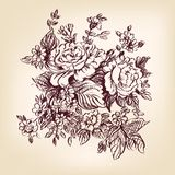 Rosas drenadas mano Fotografía de archivo libre de regalías