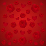 Rosas e corações ilustração do vetor